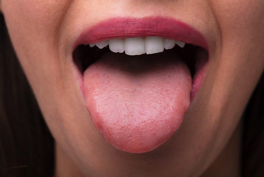 Woman's tongue