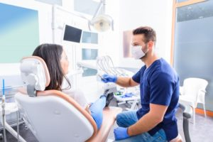 woman visiting dentist in Cary